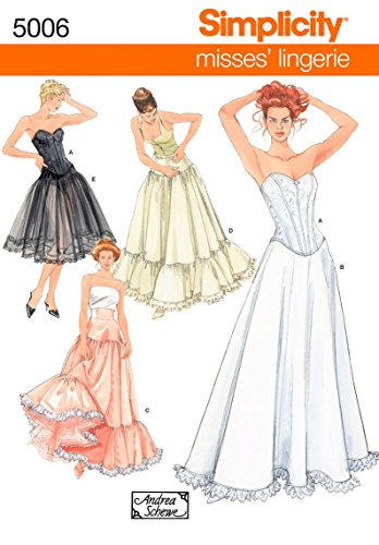 Simplicity 5006 Misses Lingerie Sewing Pattern For Women by Andrea Schewe, Sizes RR (14-20)