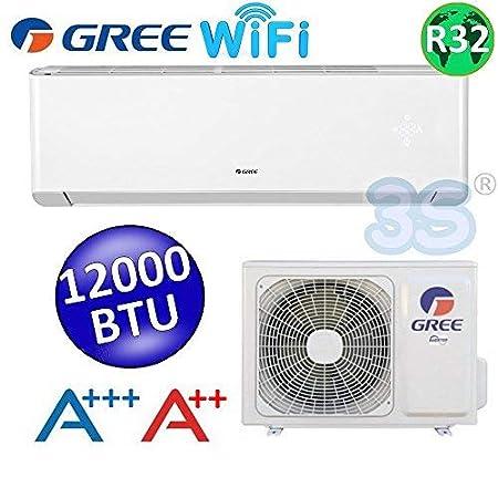 Split Klimager/ät Gree Argo Flat Inverter 12000 BTU 3,5 kW Heizung