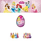"SURPRISE Egg DISNEY ""PRINCESS"" DROPS IN A PLASTIC EGG with 3D toy inside as Kinder Surprise Egg"