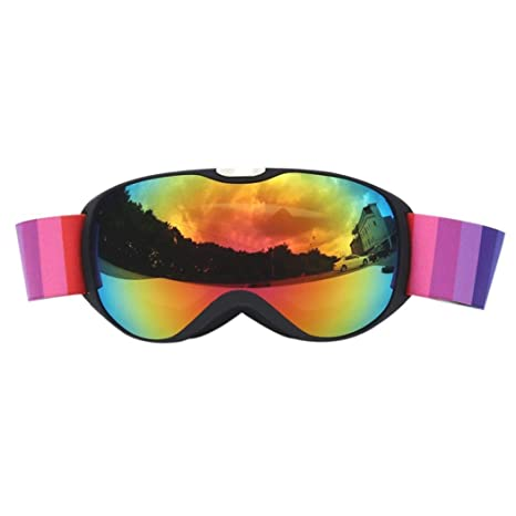 6060b5162866 Image Unavailable. Image not available for. Color  RBHT ski Goggles Double  Layers UV400 Anti-Fog Big ski mask Glasses Skiing ...