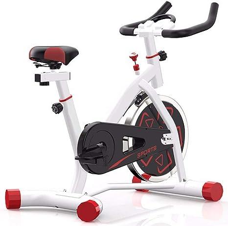 HLEZ Bicicleta Spinning Indoor, con App Control para Smartphone Bicicleta Fitness de Gimnasio Ejercicio con Volante de Inercia Sillín Ajustable Máx.200kg,Blanco: Amazon.es: Deportes y aire libre