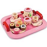 Pink Wooden Princess Afternoon Tea Party Set