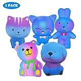 Vigeiya 5 Pack Squishies Animals Slow Rising Jumbo Cat Dog Rabbit Bear Prime Cheap Kawaii Squishy Toys