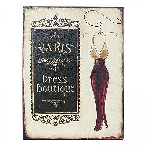 Paris Dress Boutique Cartel de chapa vestido ropa mujer ...