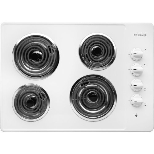 30 inch electric cooktop white - 3