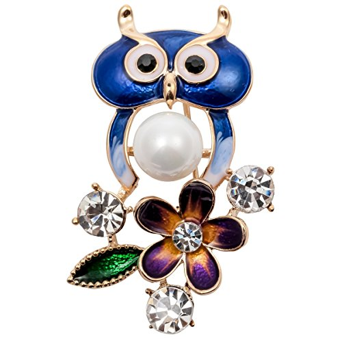 Hiddleston Holiday Jewelry Crystal Sparkly Owl Accessories Brooch Pin Gift (Crystal Owl Pin)