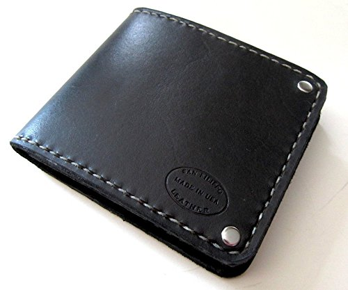 Men's Black Leather Bifold Wallet by San Filippo Leather
