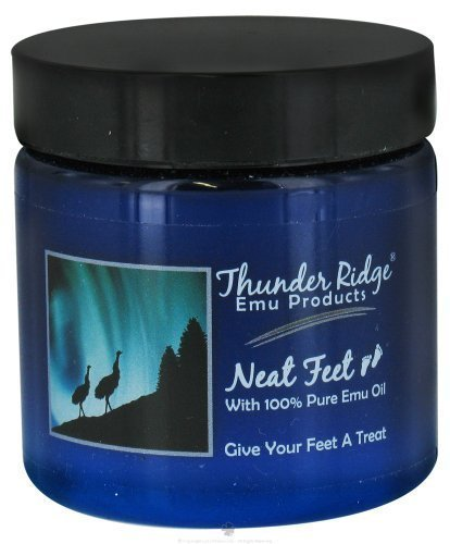 Neat Feet Moisturizing Cream with Emu Oil - 4 Oz, 2 pack by Thunder Ridge Emu (Neat Feet Moisturizing Foot Cream)