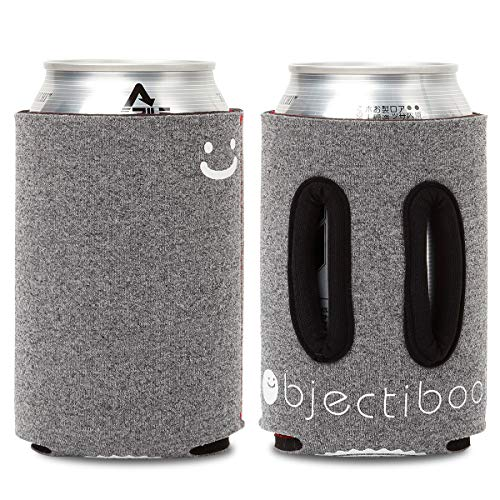Objectiboo!(오브젝티부) 350ml 용 LOOK UP 헤더 양면 손잡이가있는 캔 쿠지 · 페트병, CB 캔 커버에도 사용 가능 |