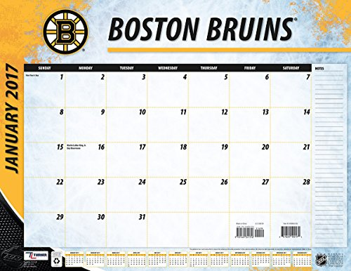 "Turner Licensing Sport 2017 Boston Bruins Desk Pad Calendar, 22""X17"" (17998061555)"