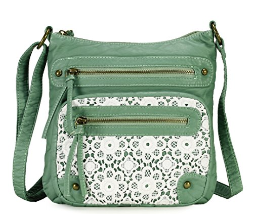 Scarleton Chic Lace Style Crossbody Bag H191253 - Mint
