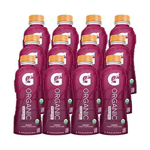 (G Organic, Mixed Berry, Gatorade Sports Drink, USDA Certified Organic, 16.9 oz. Bottle (Pack of 12))