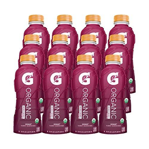 G Organic, Mixed Berry, Gatorade Sports Drink, USDA Certified Organic, 16.9 oz. Bottle (Pack of 12) (Best Gatorade Mixed Drinks)