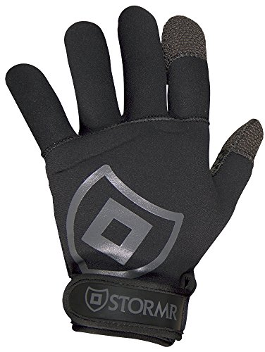 Stormr Mens Torque Neoprene Gloves with Kevlar Finger Tips - Fully Lined Micro-Fleece Gloves with Adjustable Wrist Closures - Flexible and Durable Design - Premium Quality, Blind-Stitched Seams