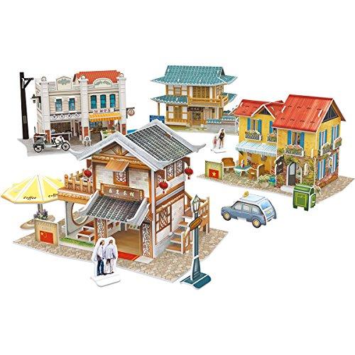 Plastic 3 D Puzzle - CubicFun 3D Puzzles for Aisa Cityscapes Architectural Building Model Kits, 225 Pieces, W3190h