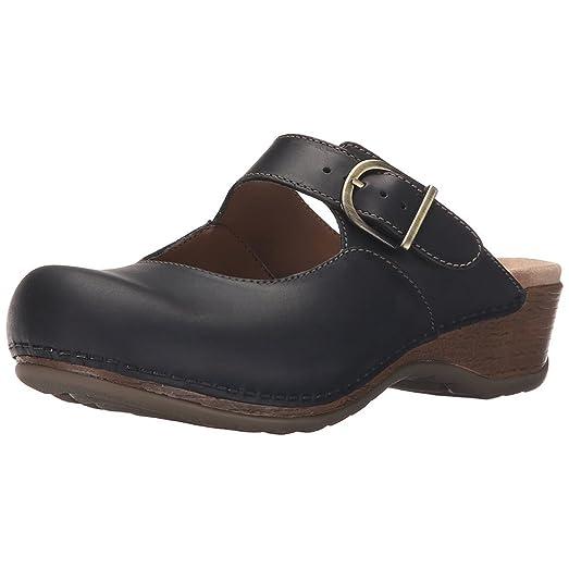 Dansko Martina Oiled Women Mules  Clogs Shoes Black Size 38