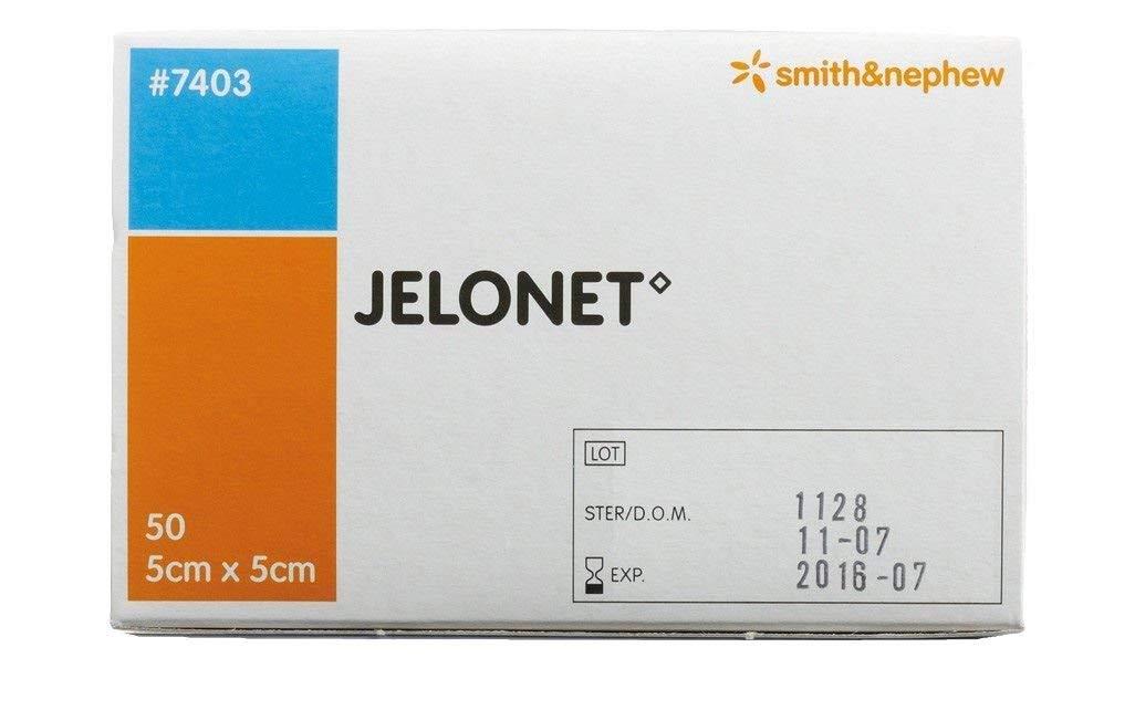 Jelonet Paraffin Gauze Dressing - 5cm x 5cm (x50) Smith & Nephew