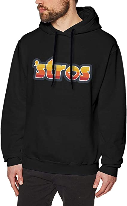 Imagen deDFGDG Men's Hooded Sweatshirt Astro Inspired Stros Fashion Hoodie Pullover Black Navy