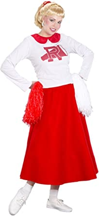 Rydell Cheerleader Womens Adult Grease Movie Halloween Costume Dress