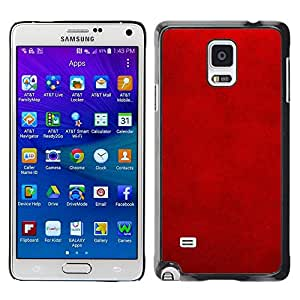 FECELL CITY // Duro Aluminio Pegatina PC Caso decorativo Funda Carcasa de Protección para Samsung Galaxy Note 4 SM-N910 // Patterned Wallpaper Lava Rustic Stylish Velvet