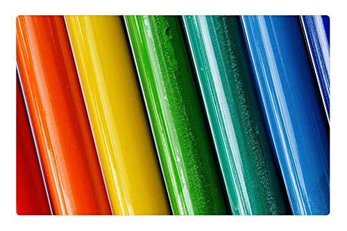 Tree26 Indoor Floor Rug/Mat (23.6 x 15.7 Inch) - Play Dough Children Colorful Rods Background 3