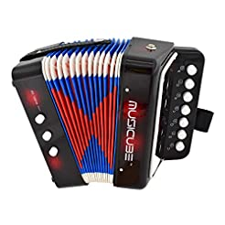 MUSICUBE 10 Keys Accordion, Accordion fo...