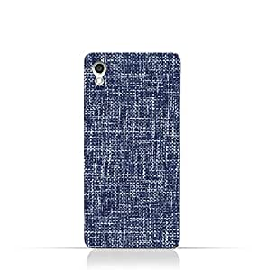 AMC Design Lava Iris 702 TPU Silicone Case with Brushed Chambray Pattern