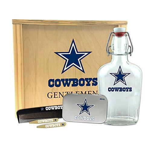 Worthy Promotional NFL Dallas Cowboys Gentlemen's Gift Box-Toiletry Edition 1-250 ml Glass Swing-Top Bottle, 10