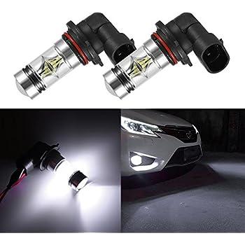 2x New 6000K White 100W LED 9006 HB4 Projector Fog Driving Light Bulbs W//10*LED