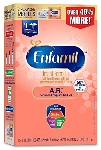 Enfamil A.R. Spit Up Baby Formula Gentle Milk Powder Refill, 32.2 ounce - Omega 3 DHA, Probiotics, Immune & Brain Support
