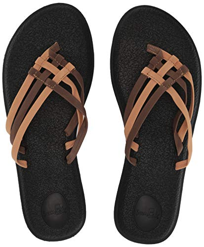 Sanuk Women's Yoga Salty Flip-Flop, Demitasse, 08 M US from Sanuk