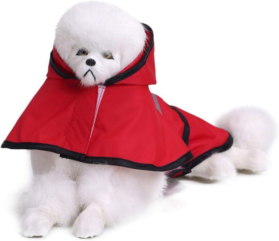 Chaqueta Impermeable Impermeable Ultraligera 100/% para Perros peque/ños Smoro Impermeable para Perros con Capucha y Tiras Reflectantes seguras