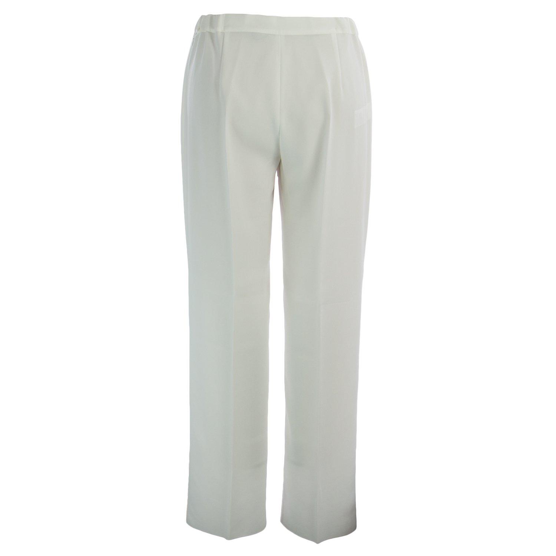Marina Rinaldi Women's Romana Classical Dress Pants 16W / 25 White by Marina Rinaldi by Max Mara (Image #2)