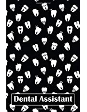 """Dental Assistant: gifts for dental assistants, lined journal, blank notebook, 6""""x 9"""", 100 pages for writing notes, decorated interior."""