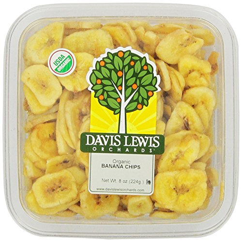 Davis Lewis Orchards Organic Chips, Banana, 8 Ounce ()