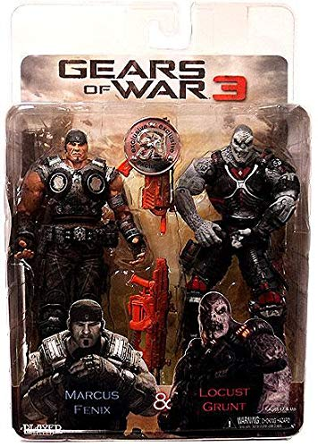 NECA Gears of War 3 Exclusive Action Figure 2Pack Marcus Fenix Locust Grunt