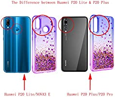 ZingCon suit for Huawei Nova 3E(not Nova 3) Phone Case,Huawei P20 Lite Glitter Case Quicksand Bling Adorable Shine,[HD Screen Protector] Shockproof ...