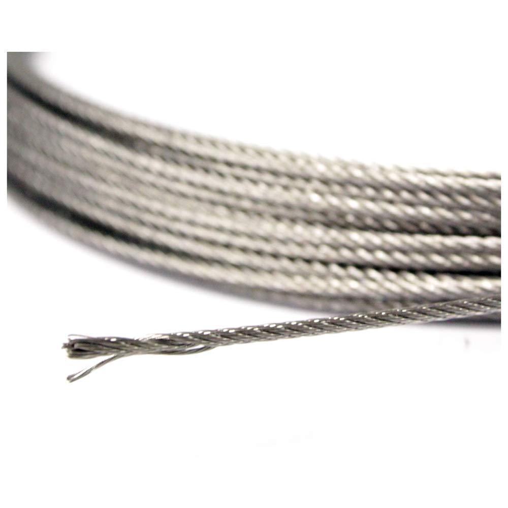 Cablematic Cable de acero inoxidable de 2,0mm 10m