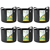 WINNER OUTFITTERS 6-Pack 5 Gallon Grow Bags/Aeration Fabric...