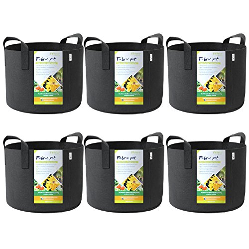 - WINNER OUTFITTERS 6-Pack 5 Gallon Grow Bags/Aeration Fabric Pots with Handles