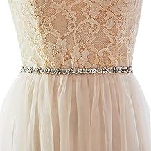Azaleas Women's Crystal Bridal Belt Sashes Wedding Dresses Sash Belts With Ribbon