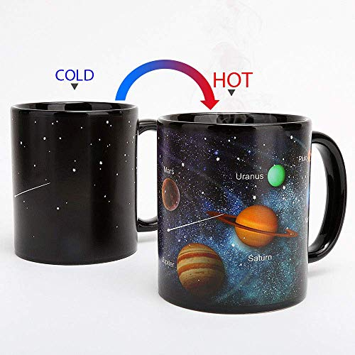 Heat Changing Mug Solar System Color Changing Magic Coffee Mug Heat Sensitive Porcelain Tea Cup Xmas Funny Gifts(10 OZ)