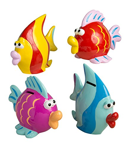 Fashioncraft 12058 Fabulous Multicolored Fish Banks