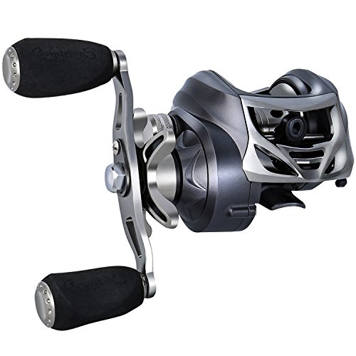 Sougayilang Baitcasting Fishing Reel 11+1 BB Casting Reel,Dual Brakes Baitcaster Fishing Ree-Right Handed For Sale