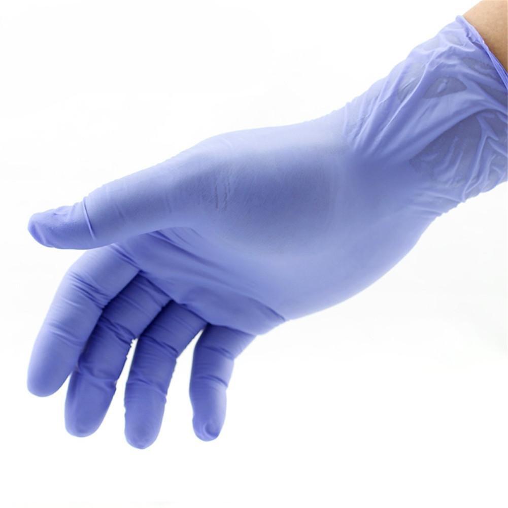 TT Blaue Einweg Nitril Kautschuk Handschuhe Gummi Labor Industrielle Handschuhe (100 Stück) wexe.com