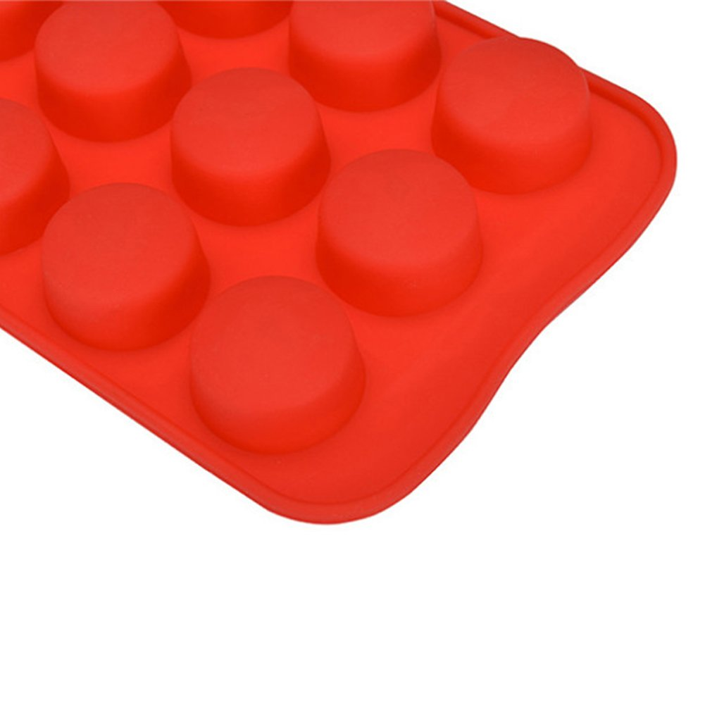 Leoie Silicona de Grado alimenticio Molde de Cubo de Hielo DIY Bandeja de Hielo Whisky de Modo de Chocolate Heart