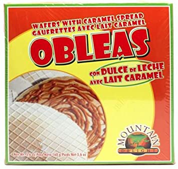 Mountain Delight Obleas Con Dulce De Leche (Caramel Wafers) 5.6 Oz.