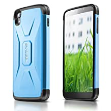 "Evocel® Alcatel OneTouch IDOL 3 (4.7"") [X-Generation Series] Slim Fit Dual Layer Design Hybrid Armor Protective Case For Alcatel OneTouch IDOL 3 (4.7 inch), Steel Blue (EVO-ALIDOL3-VV02)"