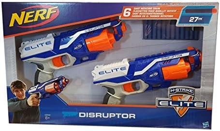 Nerf N-Strike Elite Disruptor, Pack de 2 Pistolas con Capacidad de 6 Dardos en el Tambor rotatorio: Amazon.es: Juguetes y juegos