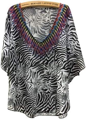 ASGHILL Boho 4XL Tallas Grandes Ropa para Mujer Verano Estampado de Cebra Blusas de Gasa Tops Blusa Batwing Blusa de Mujer Mujer: Amazon.es: Deportes y aire libre